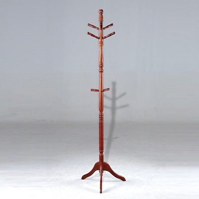 【在地人傢俱】20 簡單購-307型胡桃色實木衣架/ 衣帽架 LC499-10 桃園市