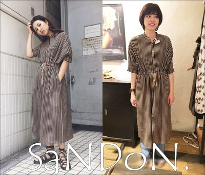 SaNDoN x 『MOUSSY』復古日式二穿洗舊條紋綁帶洋裝OP SLY SNIDEL 韓妮 170706
