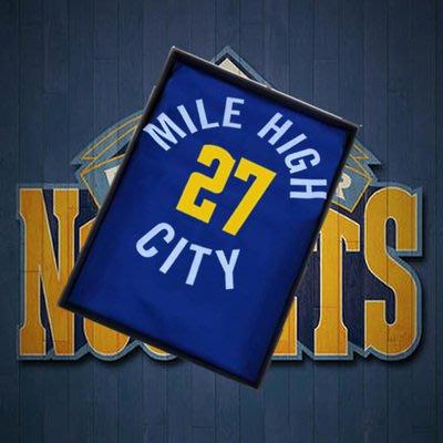 安迪·莫瑞(Andy Murray) NBA丹佛金塊隊 球衣 27號 城市版 藍色  ( 老顧客專屬賣場 )
