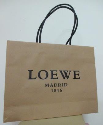 ~LOEWE 横式 粗繩 紙袋/提袋 31x26x8cm~