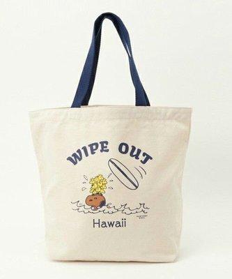 全新日本正品【SURF'S UP PEANUTS】HAWAII LIMITED TOTE BAG WIPE OUT