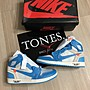 【TONES.】Nike Air Jordan 1 Off-White  the ten 超級限量 北卡藍配色