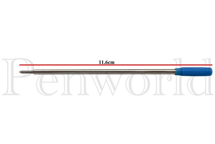 【Penworld】台灣製 外銷高仕型600NB原子筆芯3支 藍/黑