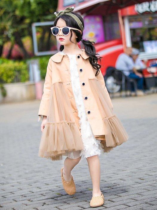 『媽咪貝貝』女童超大裙擺風衣,穿上它你就是街上最靚的仔