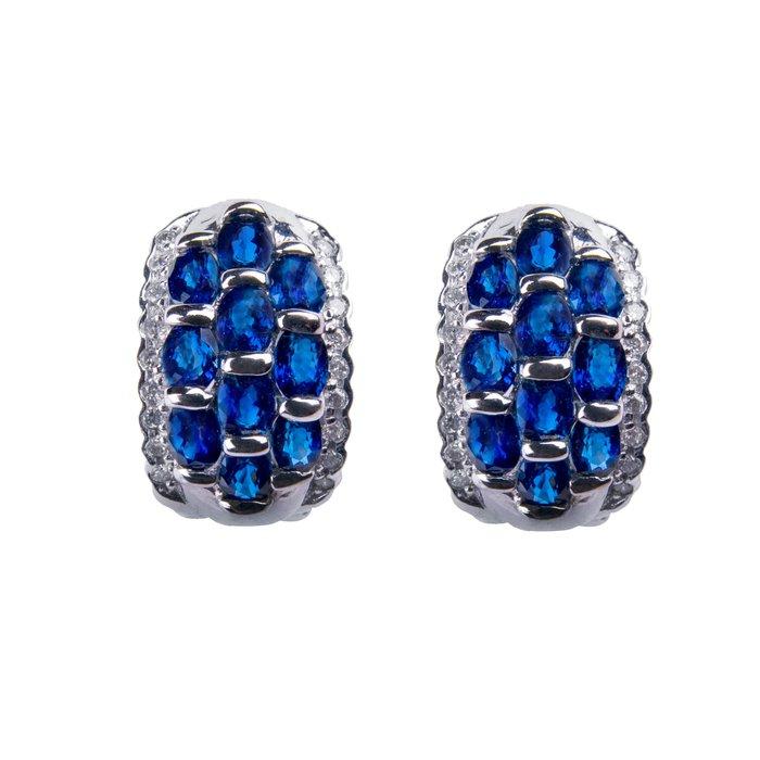 【JHT金宏總珠寶/GIA鑽石專賣】4/4克拉藍寶鑽石耳環材質:750/(5267)
