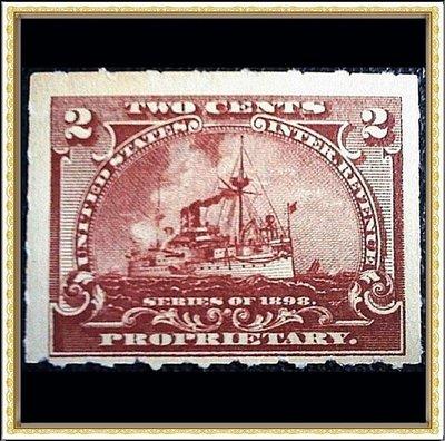 【台灣人珍瓊-200517】1898年 美國 郵輪 2 cents
