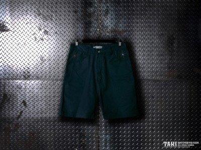 TAKI哥德式鉚釘短褲非B-SIDE.OVERKILL.PROVIDER.REMIX  M號(藍色)