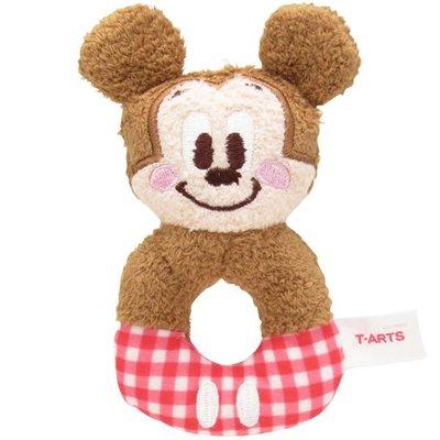 尼德斯Nydus 日本正版 迪士尼 米奇 Mickey 嬰兒玩具 嬰兒用品 絨毛玩偶 手搖鈴鐺