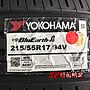 【超前輪業】YOKOHAMA 橫濱 BluEarth-A AE50 215/55-17 另有 NT860 VE320
