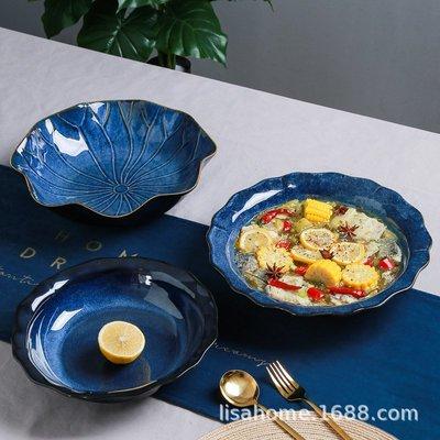 有一間店-大號陶瓷酸菜魚碗 創意窯變湯盆 現代家用酒店中式湯盤湯鍋 (規格不同 價格不同)