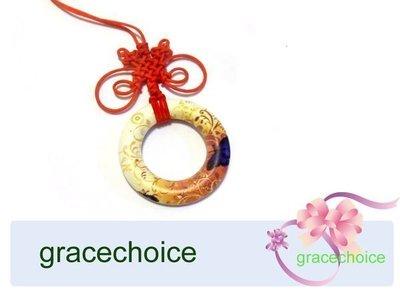 風姿綽約---老花眼鏡掛環項鍊 (A075) ~彩繪木質~中國結編織~ 可掛眼鏡~長輩禮物
