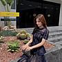韓國名媛藍色水溶蕾絲self portrait系列 長洋裝公主風禮服蛋糕裙 實拍