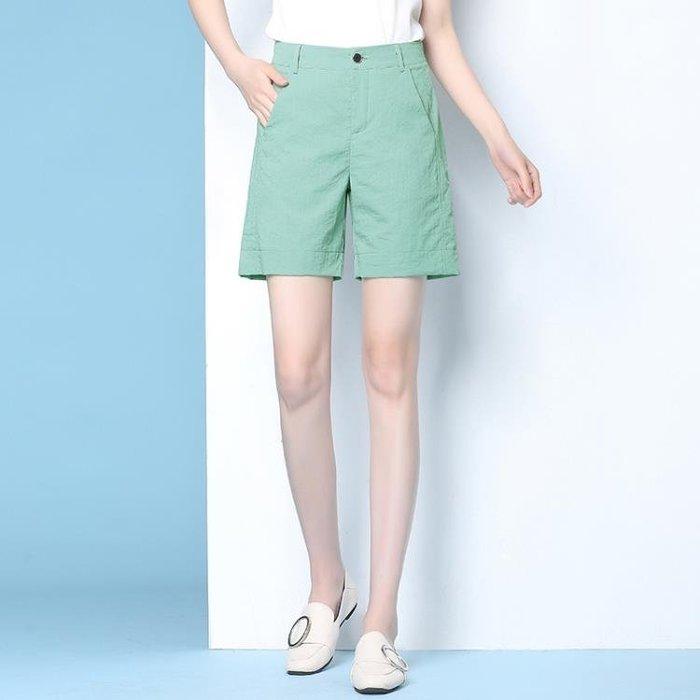 薄款棉麻五分褲女寬鬆3色可選