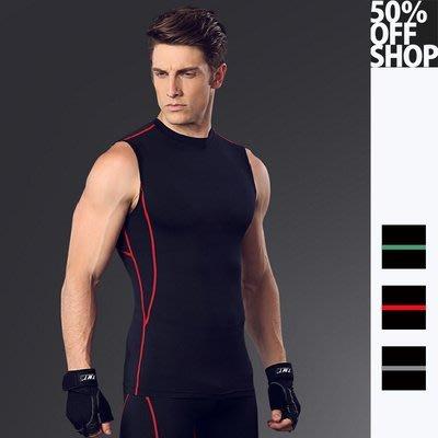 50%OFF SHOP【AD021848C】健身服男籃球跑步訓練服彈力壓縮速乾衣運動緊身衣背心