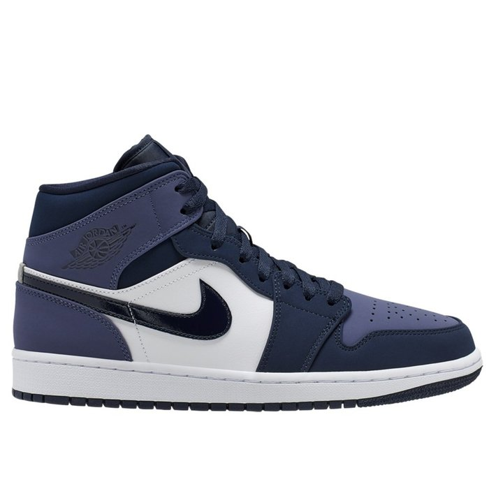 【A-KAY0】NIKE AIR JORDAN 1 MID SANDED PURPLE 黑藍白紫【554724-445】