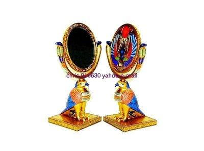【預購品】設計作品 手工彩繪 赫魯斯 造型-鏡座 ]-Egypt 大英博物館 埃及古文物複製.