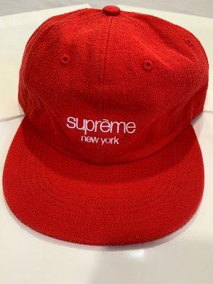 SUPREME Supreme Cap 帽子 紅色 現貨在台 厚布款 六分割 水洗 皮革帶 全新正品 美國官官網購入 現貨在台