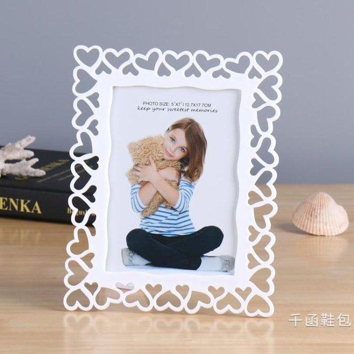 簡約相框韓式創意兒童可愛照片6寸7寸8寸10寸個性婚紗影樓擺臺架