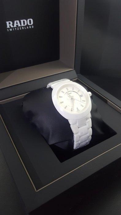 瘋 ~ 全新 RADO 雷達錶 陶瓷錶帶 內鑲白鑽 手鐲型壓扣式 膠膜未撕 附盒 代售 店家保固一年