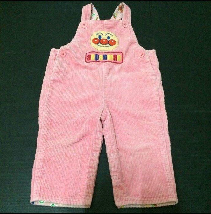 日本麵包超人純棉吊帶褲 粉色 80cm-【日本帶回】?限時優惠價?