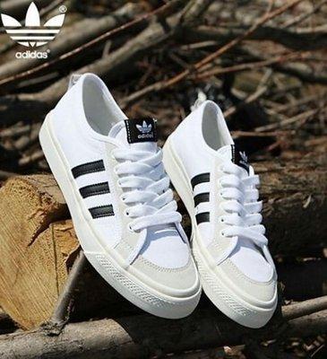 【GS】韓國限定 Adidas Nizza AF6287 休閒鞋 白黑 男女休閒慢跑鞋 武士 AJ NMD