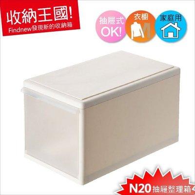 發現新收納箱『KEYWAY聯府:Good抽屜式整理箱20L』台灣製:N20-衣物分類箱,堆疊變收納櫃,儲藏防塵整齊好拿!