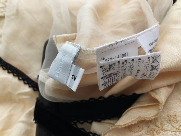 【Jill Stuart ♥ 】【 高級棉料鏤空蕾絲黑絲絨飾邊細肩帶洋裝】