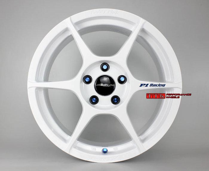 全新 正Buddy Club P1-Ciassic 輕量化鋁圈 17吋 7.5J 全車系適用 亮白色 (特價4000元)