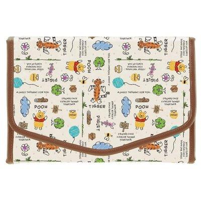 ☆Juicy☆日本 迪士尼 小熊維尼 pooh 母子手帳 手帳本 收納包 護照夾 寶寶手冊 孕婦手冊 3107維尼