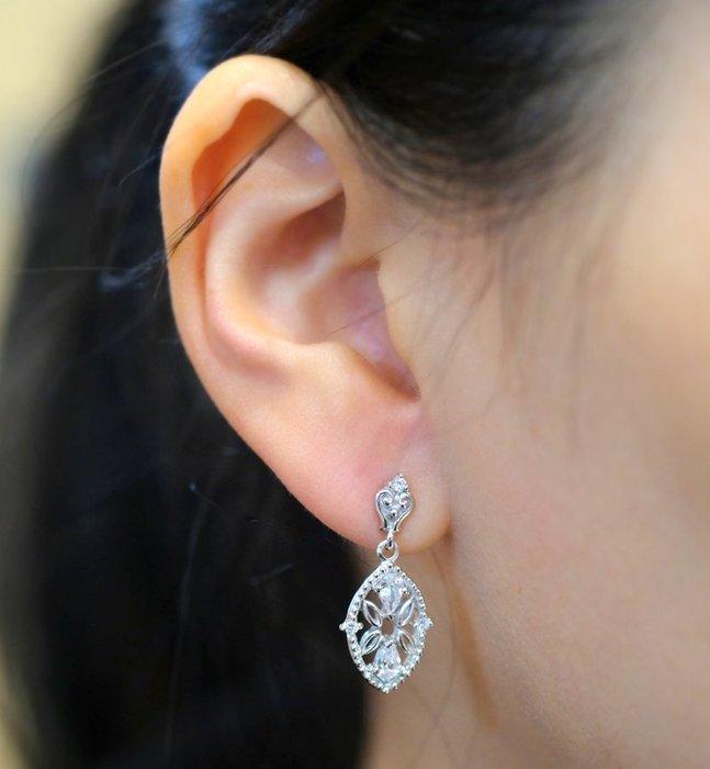 奧嘉精品工作室 Martina Olga 925純銀飾蕾絲馬眼珠寶款耳環項鍊墜飾套組 婚禮伴娘宴會中國風旗袍