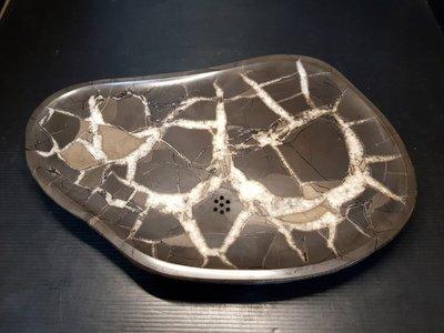 石在有趣~新石器時代/【藏品級】龜甲石茶盤