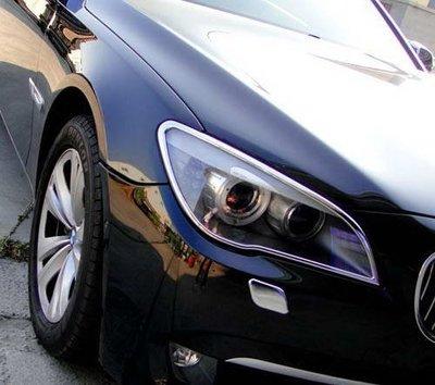 《※金螃蟹※》寶馬 BMW 7 F01 2009年~UP 系列 鍍鉻 大燈框  改裝 精品 配件 外銷德國