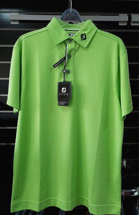 (易達高爾夫) 全新原廠FOOTJOY 21028 蘋果綠色 男短袖上衣