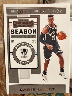 (記得小舖)NBA CARIS LeVERT 紐澤西籃網 2019-20 PANINI 普卡1張 台灣現貨