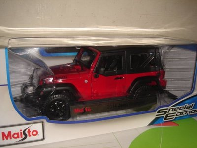 1多美火柴盒美捷輪風火輪Maisto汽車1/18合金車1:18轎車Jeep Wrangler藍哥吉普車紅七佰二十一元起標
