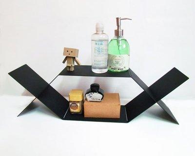 *黑設計*雙X桌上置物架、小物架、桌上...