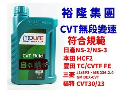 【自在購】裕隆集團 MOLIFE CVT FLUID 無段變速箱油 日產 本田 三菱 豐田 福特