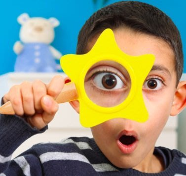 【晴晴百寶盒】木製可愛星星趣味放大鏡 木製教具 早教 觀察學習 益智玩具 生日禮物 教學教具 平價促銷 玩具 P032