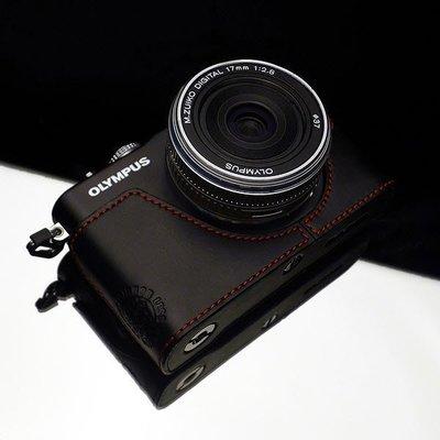 Gariz Olympus E-PL3 (EPL3) 真皮 相機皮套 XS-CHEPL3BK (黑色)