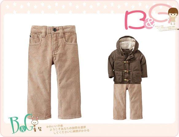 【B& G童裝】正品美國進口OLD NAVY Straight-Leg Cords 燈芯絨淺咖啡色長褲18-24mos