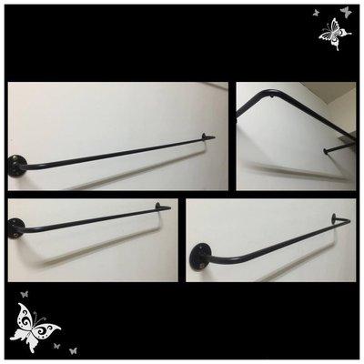 工業風 復古風烤漆 門把 把手 水管 衣架 吊架 金銅 紅銅 黑鐵水管 垂掛式 ㄇ型吊衣桿 ㄇ型衣架