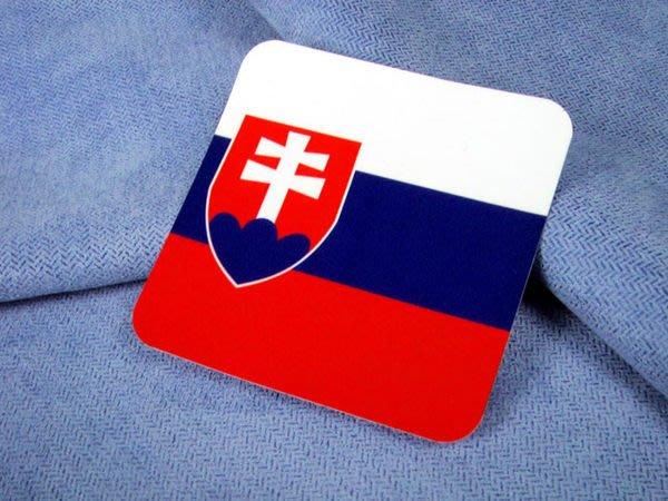 【衝浪小胖】斯洛伐克方形旅行箱貼紙/抗UV防水/登機行李箱/多國可收集訂製