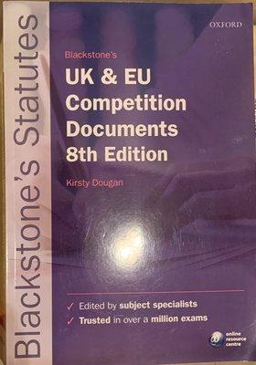 Blackstone's UK & EU Competition Documents, 8th Edition