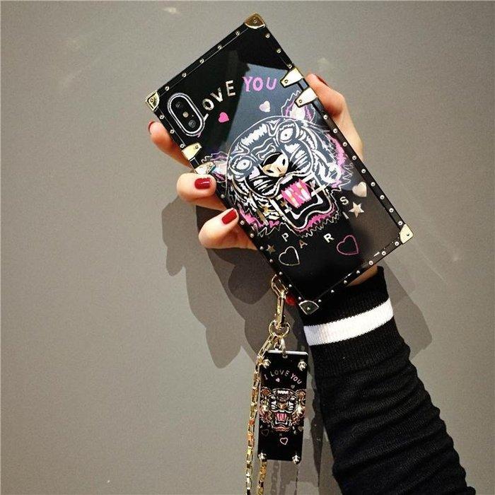 XR手機殼Apple保護套保護殼正韓國版奢華iphone xs max手機殼潮牌老虎頭蘋果xr保護套7p全包6sp殼8p