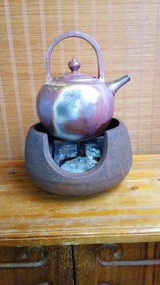 (店舖不續租清倉大拍賣)簡銘炤先生--柴燒圓底煮水壺,原價45000元特價22500元