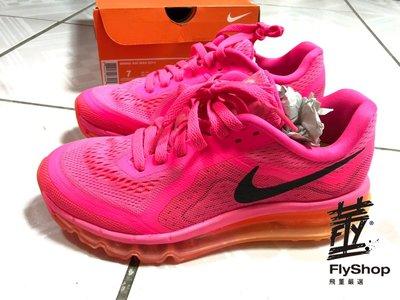 [飛董] NIKE WMNS AIR MAX 2014 全氣墊 慢跑鞋 女鞋 621078 601 螢光粉紅