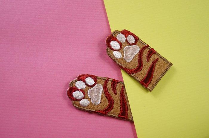 虎斑喵爪 - 貓爪自黏繡布貼系列