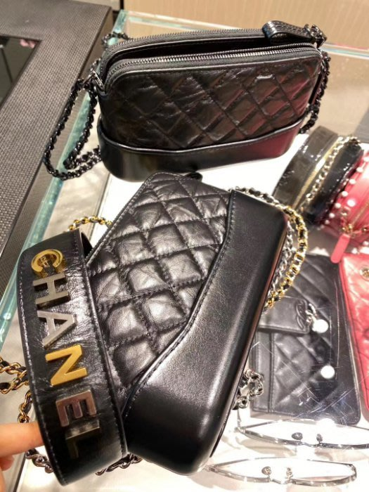 Chanel A94505 Gabrielle de Chanel clutch 迷你流浪包 黑