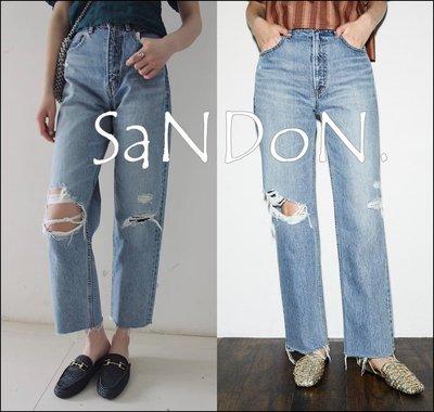 SaNDoN x『MOUSSY』夏季下折扣 好穿丹寧破洞牛仔褲 SLY SNIDEL 200717