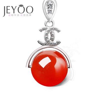 韓國Baby~jeyoo/晶優水晶吊墜項鍊女轉運珠掛墜 天河石紅幽靈虎眼石鎖骨鍊